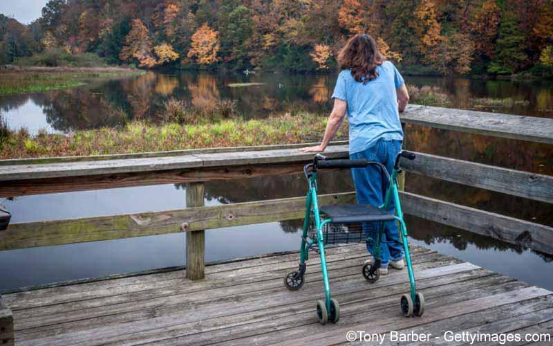 Frau mit Multiple Sklerose