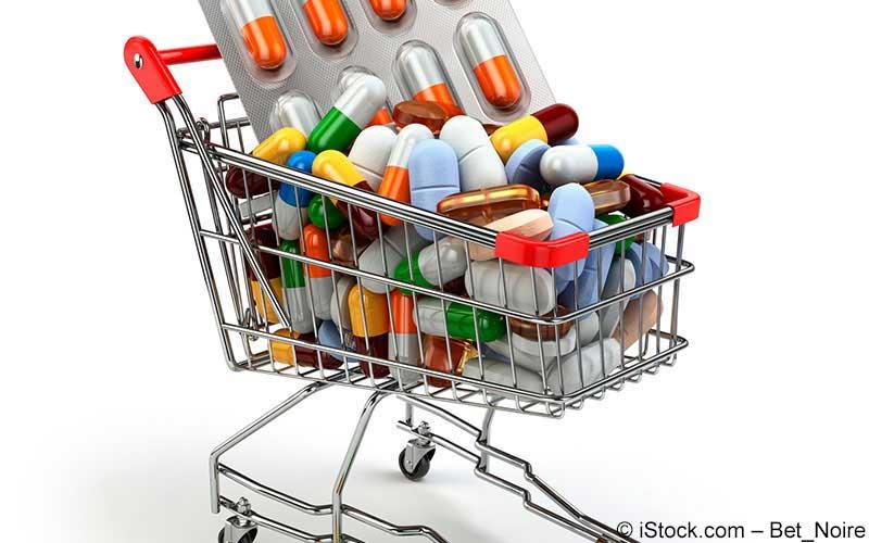 Arzneimittel im Einkaufswagen
